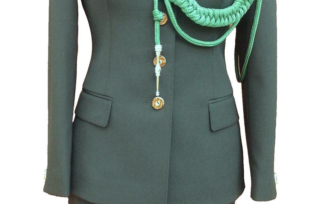 Mundur elano-wełna damski+sznur i krawat (gabardyna) + patki (2 szt)